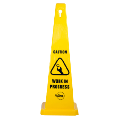 890mm Safety Cone - Caution Work In Progress