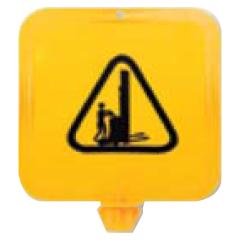 Yellow Lock-In Sign Frame - Walkie Stacker Pictogram