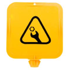 Yellow Lock-In Sign Frame - Work in Progress Pictogram