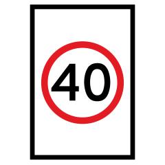 900x1200mm (PORTRAIT) - Boxed Edge - Cl.1 - (SPEED) Speed Limit