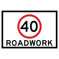 900x600mm - Boxed Edge - Cl.1 - (SPEED) Roadwork