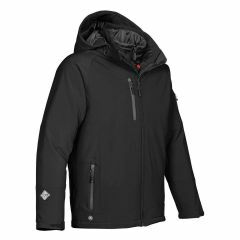 Stormtech Men's Solar 3 in 1 Jacket, Black/Granite