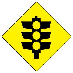 600 x 600mm - Aluminium Class 1 - Traffic Lights (Symbolic)