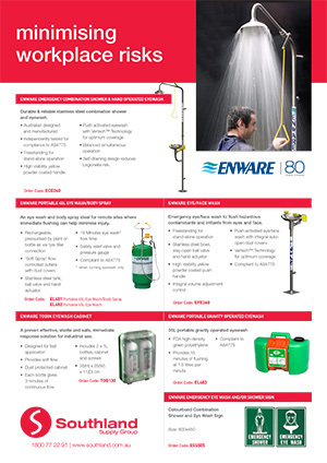 Emergency Combination Shower & Hand Operated Eyewash