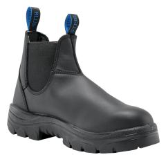Steel Blue 312101 Hobart Elastic Sided Safety Boot, Black