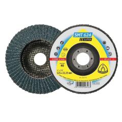 Klingspor Flap disc - (SMT624) Supra / Zirconia / 12°, 60 Grit, 125 x 22mm