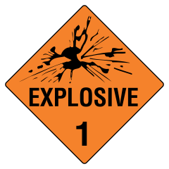 50x50mm - Self Adhesive - Explosive 1