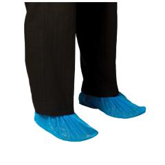 Disposable PE Shoe Covers, Blue - Carton/2000