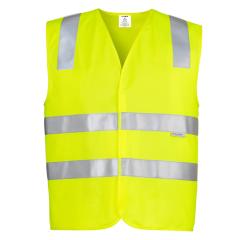 SYZMIK Unisex Hi Vis Basic Vest, Yellow
