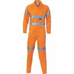 DNC Hi Vis Ventilate Hoop Style Refl. Cotton Drill  Coveralls, Orange