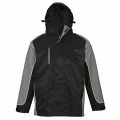 BIZ Unisex Nitro Jacket, BLACK/GREY/WHITE