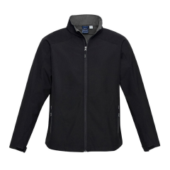 BIZ Mens BIZ TECH Geneva Jacket, Black/Graphite