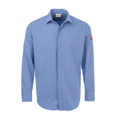 FireBear PPE1 (ATPV 5.2) ARC Rated Business Shirt, Light Blue