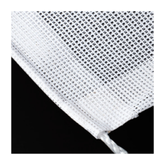 1800mm x 50m White Open Weave Banner Mesh, Rope Finish