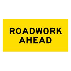 1200x600mm - Corflute - Cl.1 - Roadwork Ahead
