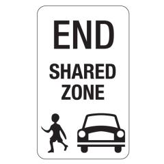 End Shared Zone, 450 x 750mm Aluminium CL1