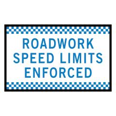 1800x900mm - Boxed Edge - Cl.1 - Roadwork Speed Limits Enforced