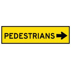 1200x300mm - Boxed Edge - Cl.1 - Pedestrians Right Arrow
