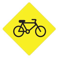 Bicycle (Symbolic), 600 x 600 Aluminium, Class 1 Reflective